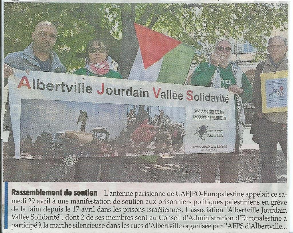 La Savoie- Marche prisonniers-29 mai