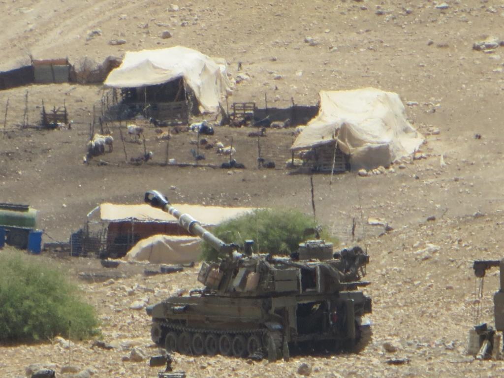 Entrainement de l'armée israélienne dans la vallée du Jourdain