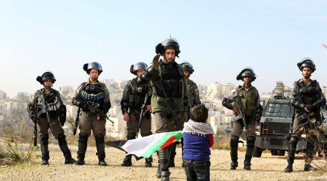 Bil'In le 23/12/2006, les enfants d'Abdallah Abu Rahma
