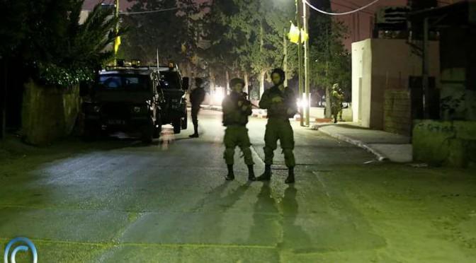 EN PLEINE NUIT LE 26 JANVIER 2017, LES SOLDATS ISRAÉLIENS DE L' OCCUPATION ENVAHISSENT LE VILLAGE DE BIL'IN