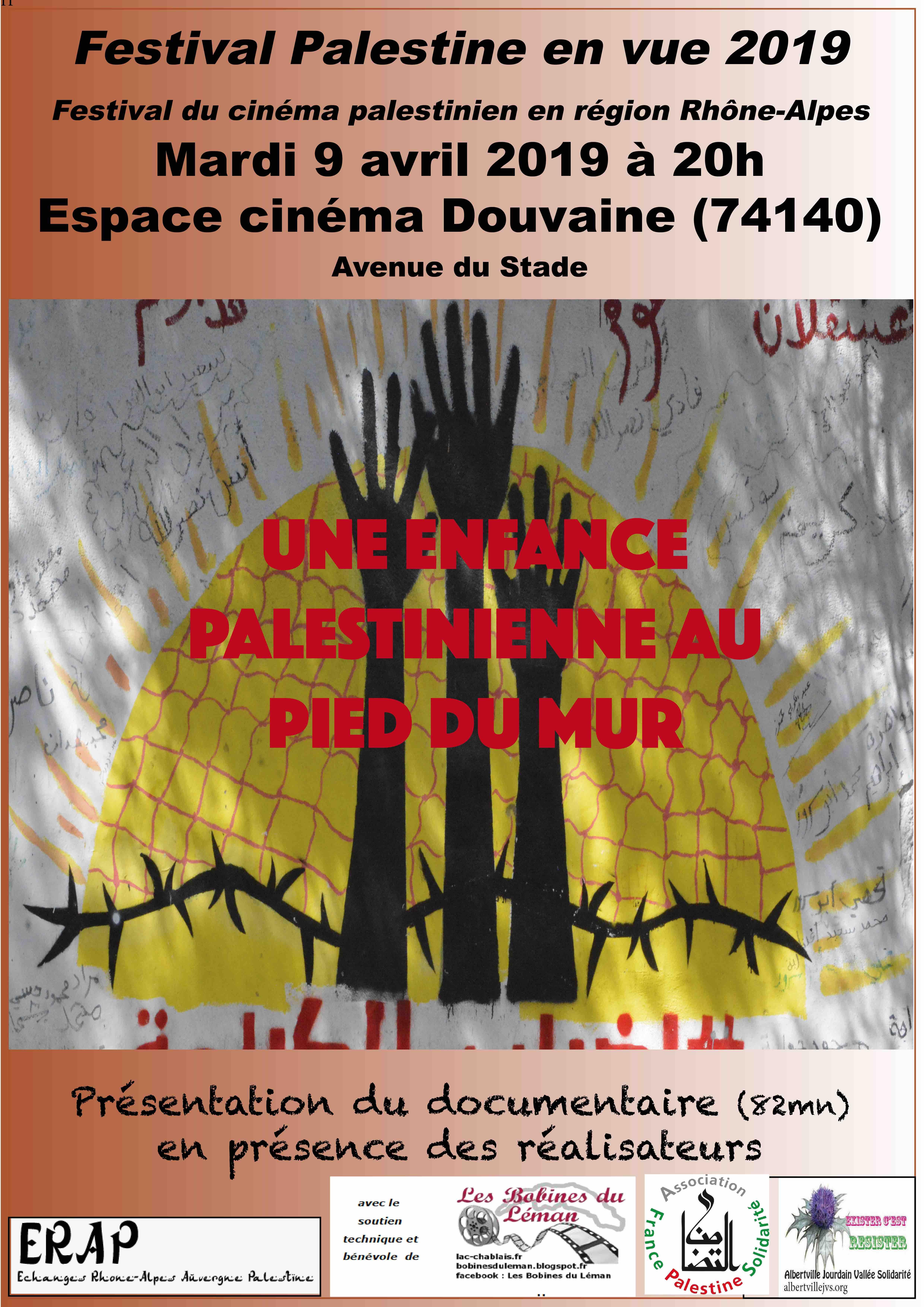 affiche une enfance palestinienne